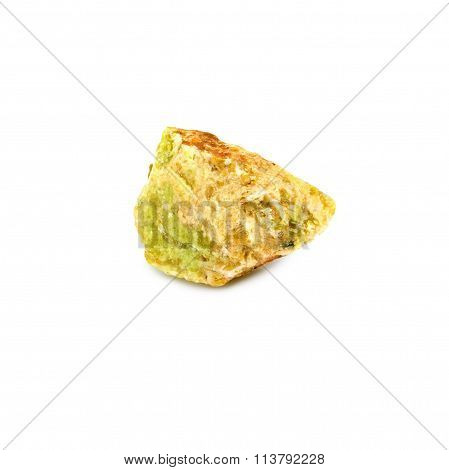 image of one opal stone on a white backgroundp