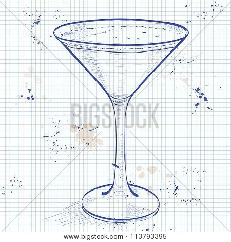 Porto Flip Cocktail on a notebook page