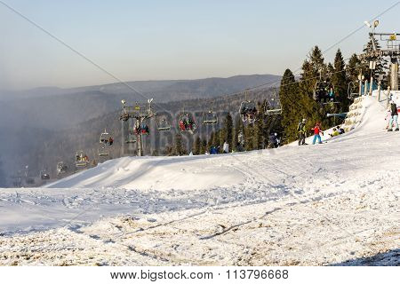 Check Out The Chairlift To The Slopes.