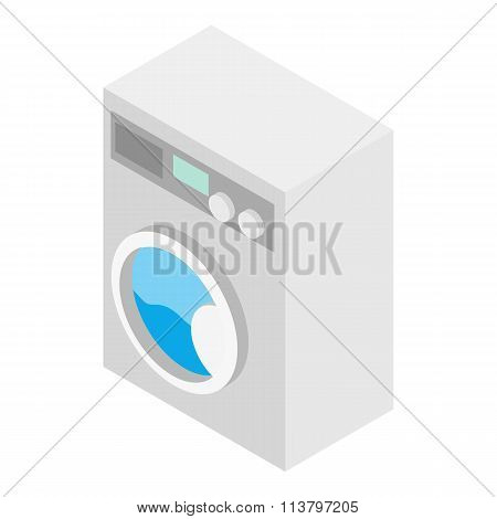 Washer isometric 3d icon