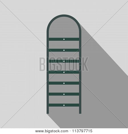 Ladder flat icon with shadow
