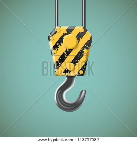 Lifting Hook. Stock Illustration.