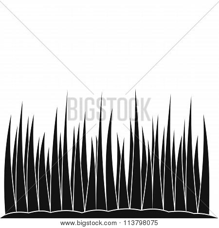 Growing grass black simple icon