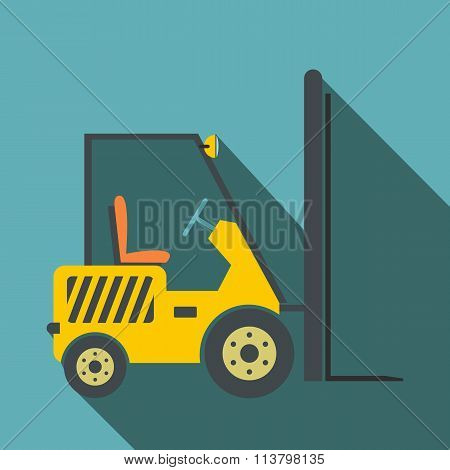 Yellow loader flat