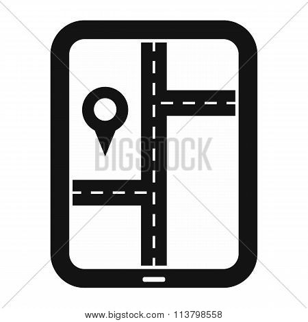 Smartphone navigation black simple icon