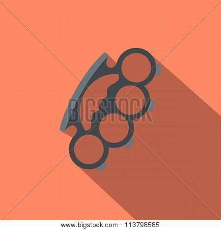 Brass knuckles flat