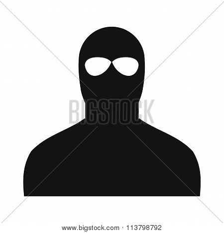 Man in a mask black simple icon
