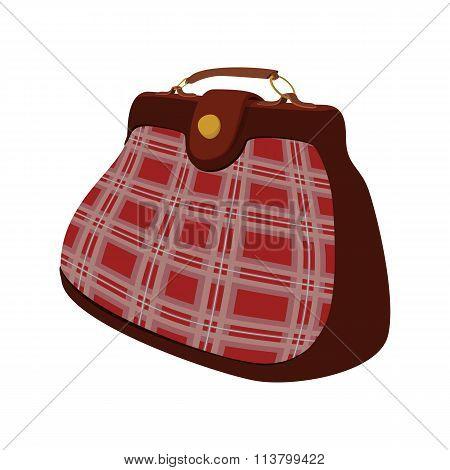 Vintage bag for men icon