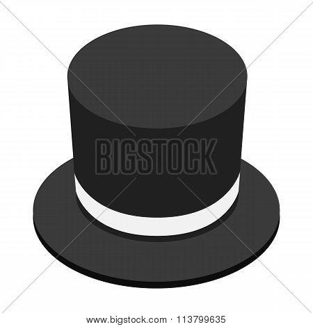 Magic black hat isometric 3d icon