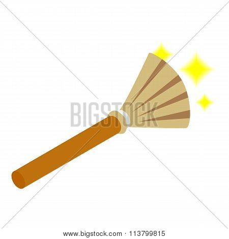 Witches broom isometric 3d icon