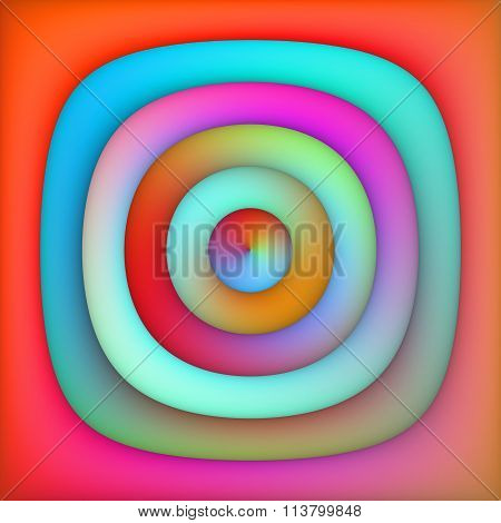 Raster Multicolor Gradient Concentric Circles Abstract Background