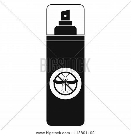 Mosquito spray black simple icon