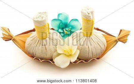 Pouches, Decorative Flowers Orchid, A Basket