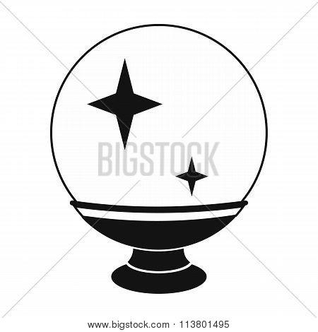 Magic ball black simple icon