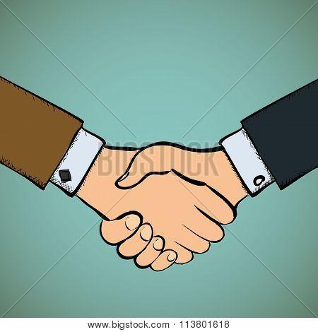 Handshake. Stock Vector Illustration.