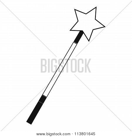 Magic wand black simple icon
