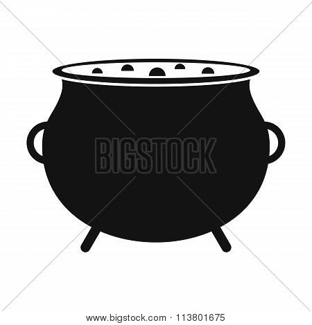 Witch cauldron with potion