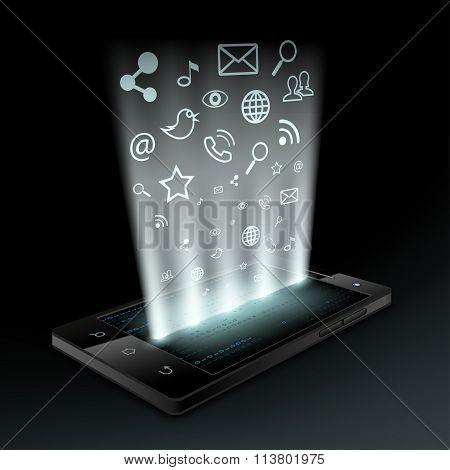 Social Media. Stock Vector Illustration.