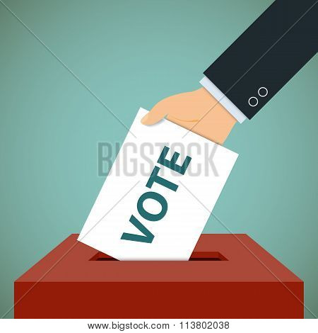 Ballot Paper. Stock Vector Illustration.