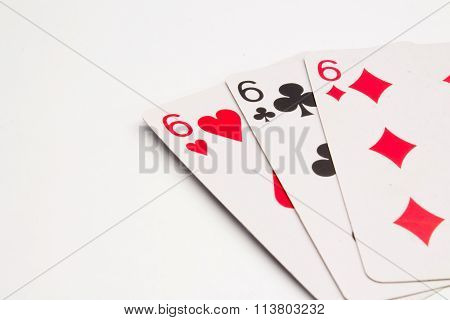 Three Sixes Cards