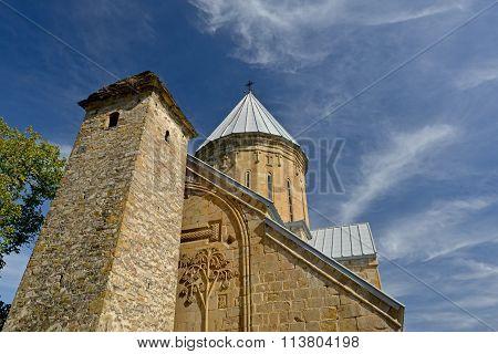 Ananuri Church Against Beautiful Sky