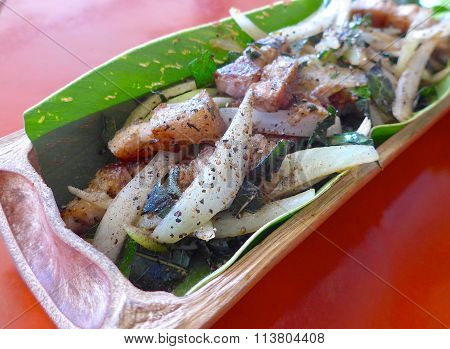 Taiwan aborigines cuisine- Salt pork