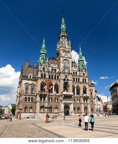 Town Hall In Liberec, Bohemia, Czech Republic