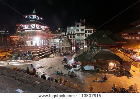 Night View Of Kathmandu Durbar Square During Festival