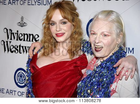 Christina Hendricks and Vivienne Westwood at the Art Of Elysium's 9th Annual Heaven Gala held at the 3LABS in Culver City, USA on January 9, 2016.