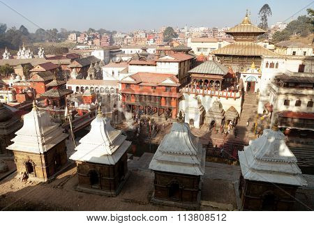 View Of Pashupatinath - Hindu Temple In Kathmandu