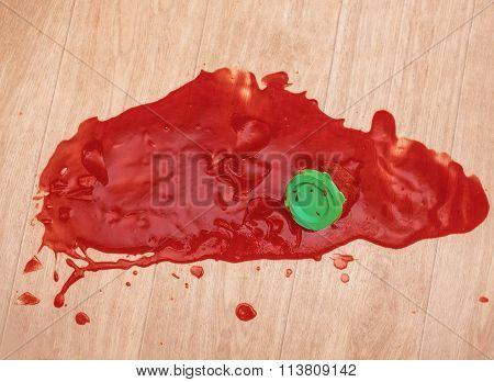 broken jar of jam