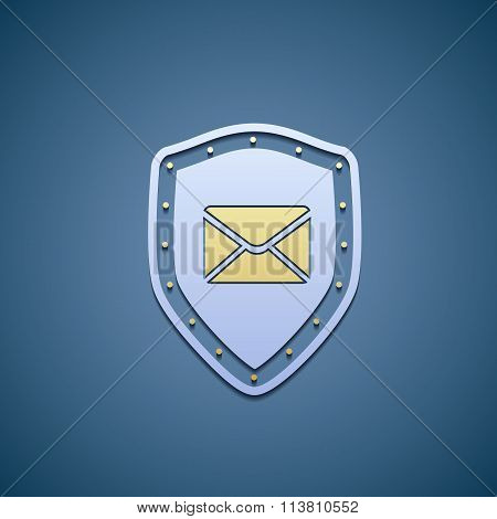 Icon Shield With Envelope.