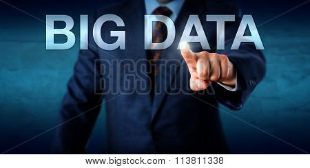 Manager Selecting Big Data On A Screen