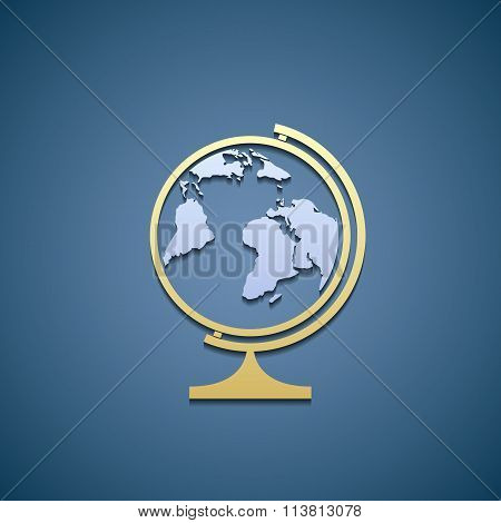 Icon Globe. Flat Graphic.