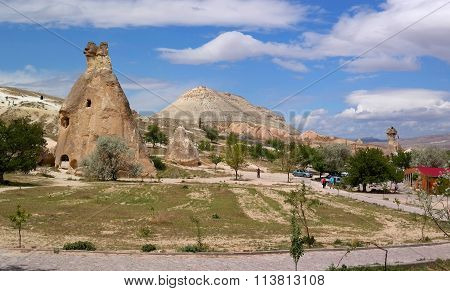 Cappadocia., Turkey - April 29, 2014: The Valley Of The Stone Pillars.