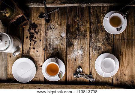 Table With Coffee And Tea
