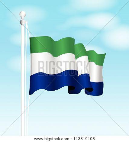 sierra leone national flag