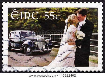 Postage Stamp Ireland 2012 Wedding Couple