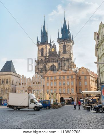 Side View Of The Old City Hall - Prague - Czech Republic