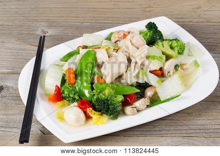 Stir Fry Chicken And Mixed Vegetables Ready To Eat