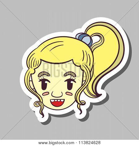 Smiling Girl Sticker