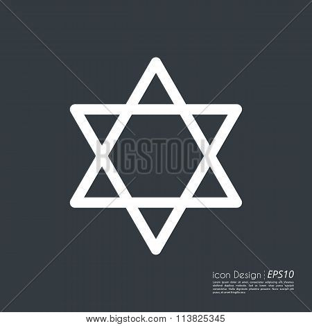 Vector illustration of star icon.