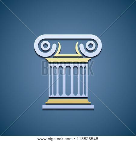 Logo Marble Column.