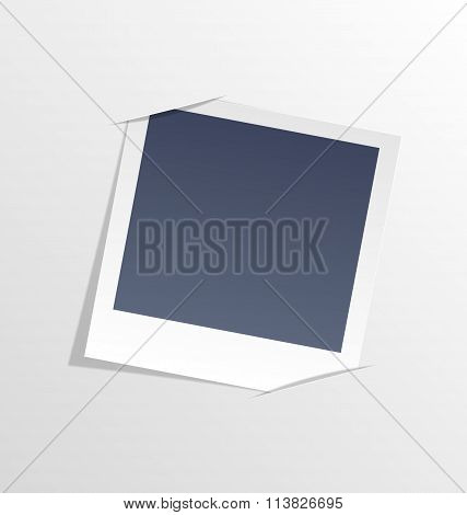 Photo frame inserted in slits of white sheet paper