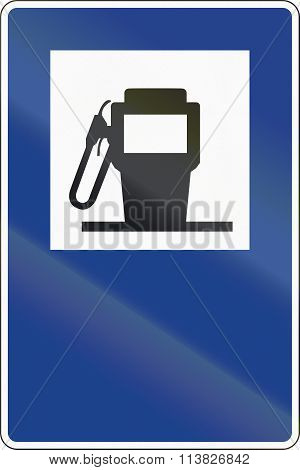 Road Sign Used In Spain - Fuel Dispenser