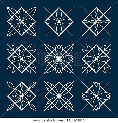 Lineart ornamental geometric symbols