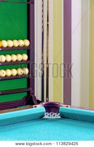 Corner Of Of A Billiard Table.