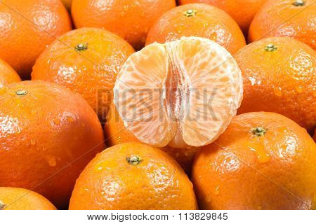 Tangerine Slices Background