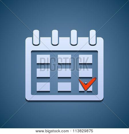 Calendar Icon With The Mark