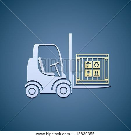 Forklifts With Cargo Box.
